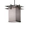 This item: Textile Matte Black and Gray LED Mini Pendant