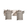 This item: Textile Metropolis Brushed Nickel and Gray Two-Light Bath Vanity