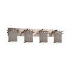 This item: Textile Metropolis Brushed Nickel and Gray Four-Light Bath Vanity