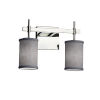 This item: Textile Union Polished Chrome and Gray Two-Light LED Bath Vanity