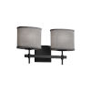 This item: Textile Matte Black and Gray Two-Light Bath Vanity