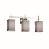 This item: Textile Union Polished Chrome and Gray Three-Light Bath Vanity