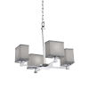 This item: Textile Polished Chrome and Gray Four-Light LED Chandelier