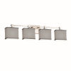 This item: Textile Tetra Brushed Nickel and Gray Four-Light Bath Vanity
