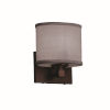 This item: Textile Tetra Dark Bronze and Gray LED Wall Sconce with Oval Shade