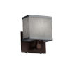 This item: Textile Tetra Dark Bronze and Gray LED Wall Sconce