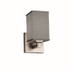 This item: Textile Regency Brushed Nickel and Gray Square LED Wall Sconce