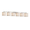 This item: Textile Regency Brushed Nickel and White Six-Light Bath Vanity