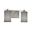 This item: Textile Era Brushed Nickel and Gray Two-Light LED Cylinder Bath Vanity