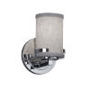 This item: Textile Atlas Polished Chrome and Gray One-Light Wall Sconce