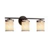 This item: Textile - Atlas Matte Black Three-Light Bath Bar with Cylinder Flat Rim White Shade