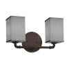 This item: Textile Bronx Dark Bronze and Gray Two-Light LED Bath Vanity