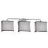 This item: Textile Bronx Polished Chrome and Gray Three-Light LED Bath Vanity