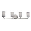 This item: Textile Bronx Brushed Nickel and Gray Four-Light Bath Vanity