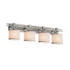 This item: Textile Brushed Nickel and White Four-Light LED Bath Vanity