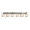 This item: Textile Argyle Brushed Nickel and White Six-Light Bath Vanity