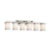 This item: Textile Montana Brushed Nickel and White Six-Light LED Bath Vanity