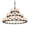 This item: Textile Matte Black and White 45-Light Chandelier