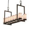 This item: Textile Dark Bronze and White 14-Light LED Chandelier