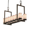This item: Textile Dark Bronze and White 14-Light Chandelier