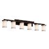 This item: Textile Dark Bronze and White Six-Light LED Bath Vanity