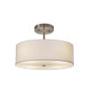 This item: Textile Brushed Nickel and White Two-Light Pendant