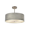 This item: Textile Brushed Nickel and Gray Three-Light Pendant