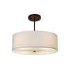 This item: Textile Dark Bronze and White Three-Light Pendant