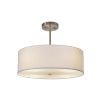 This item: Textile Brushed Nickel and White Three-Light Pendant