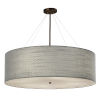 This item: Textile Classic Dark Bronze and Gray Eight-Light Pendant