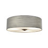 This item: Textile Dark Bronze and Gray Three-Light Flush Mount