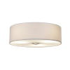 This item: Textile Brushed Nickel and White Three-Light Flush Mount