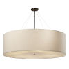 This item: Textile Classic Dark Bronze and Cream Eight-Light Drum Pendant