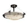 This item: LumenAria Matte Black Three-Light LED Semi-Flush Mount