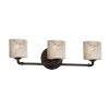 This item: LumenAria Bronx Dark Bronze Three-Light LED Bath Vanity
