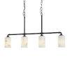 This item: LumenAria - Bronx Dark Bronze Five-Inch Four-Light Chandelier
