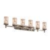 This item: Eco Deco Brushed Nickel Six-Light Cylinder Bath Vanity