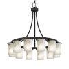 This item: LumenAria Matte Black 12-Light LED Chandelier