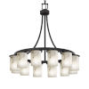 This item: LumenAria Matte Black 12-Light Chandelier