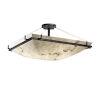 This item: LumenAria Matte Black Eight-Light Semi-Flush Mount