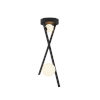 This item: Fusion Stix Matte Black Two-Light LED Pendant with Opal Glass Shade