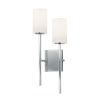 This item: Fusion Polished Chrome Two-Light Wall Sconce