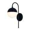 This item: Fusion Ion Matte Black One-Light Wall Sconce