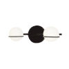 This item: Fusion Centric Matte Black Two-Light Bath Vanity