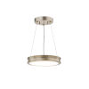 This item: Fusion Bevel Brushed Brass LED Mini Pendant