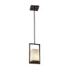This item: Fusion Dark Bronze LED Mini Pendant with Opal Glass