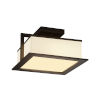 This item: Fusion Dark Bronze LED Flush Mount with Opal Glass