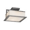 This item: Fusion Brushed Nickel 12-Inch LED Flush Mount with Opal Glass