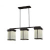 This item: Fusion - Pacific Dark Bronze Eight-Inch Three-Light LED Outdoor Chandelier with Rain Shade