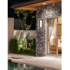 This item: Fusion - Bayview Brushed Nickel Eight-Inch LED ADA Outdoor Wall Sconce